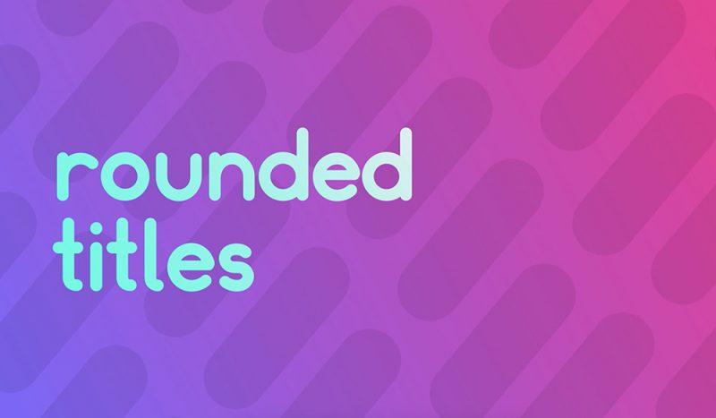 Rounded Titles: Free Animated Lower Thirds And Titles After Effects Template