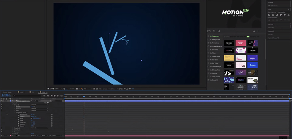 After Effects Tutorial: How to Create an Infinite Loopable Background — Add Shape