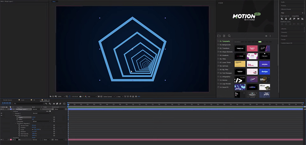 After Effects Tutorial: How to Create an Infinite Loopable Background — Offset