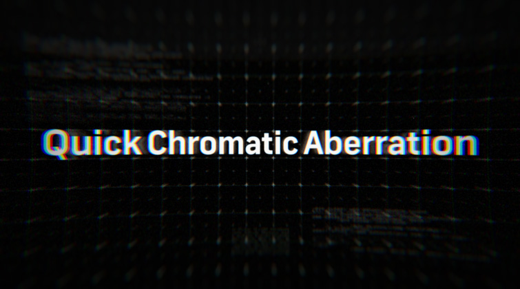 Cyberpunk After Effects Plugins - Quick Chromatic Aberration