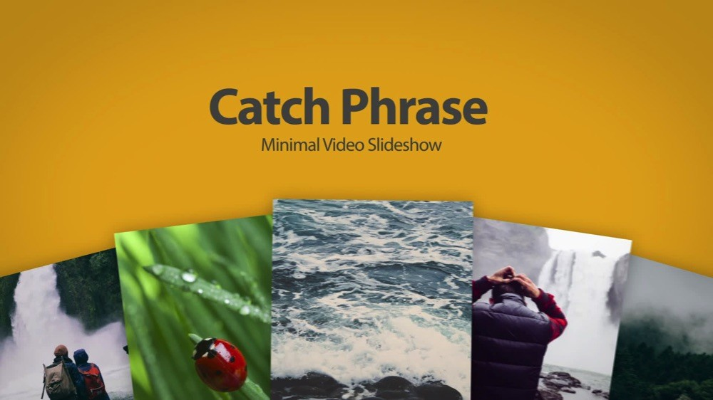 Catch Phrase Video Slideshow After Effects Template - Awesome slideshow after effects scheme