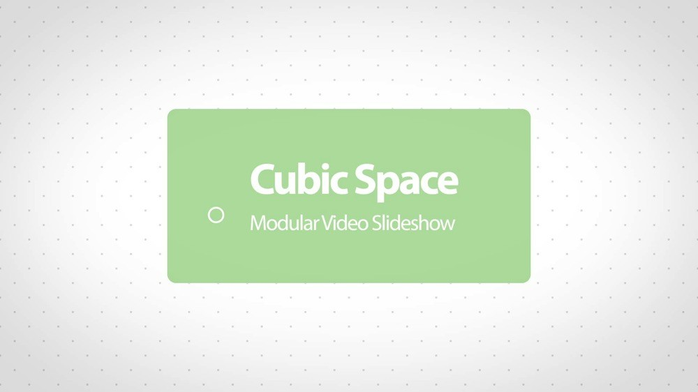 Cubic space modular slideshow after effects template for Cubi spaceo