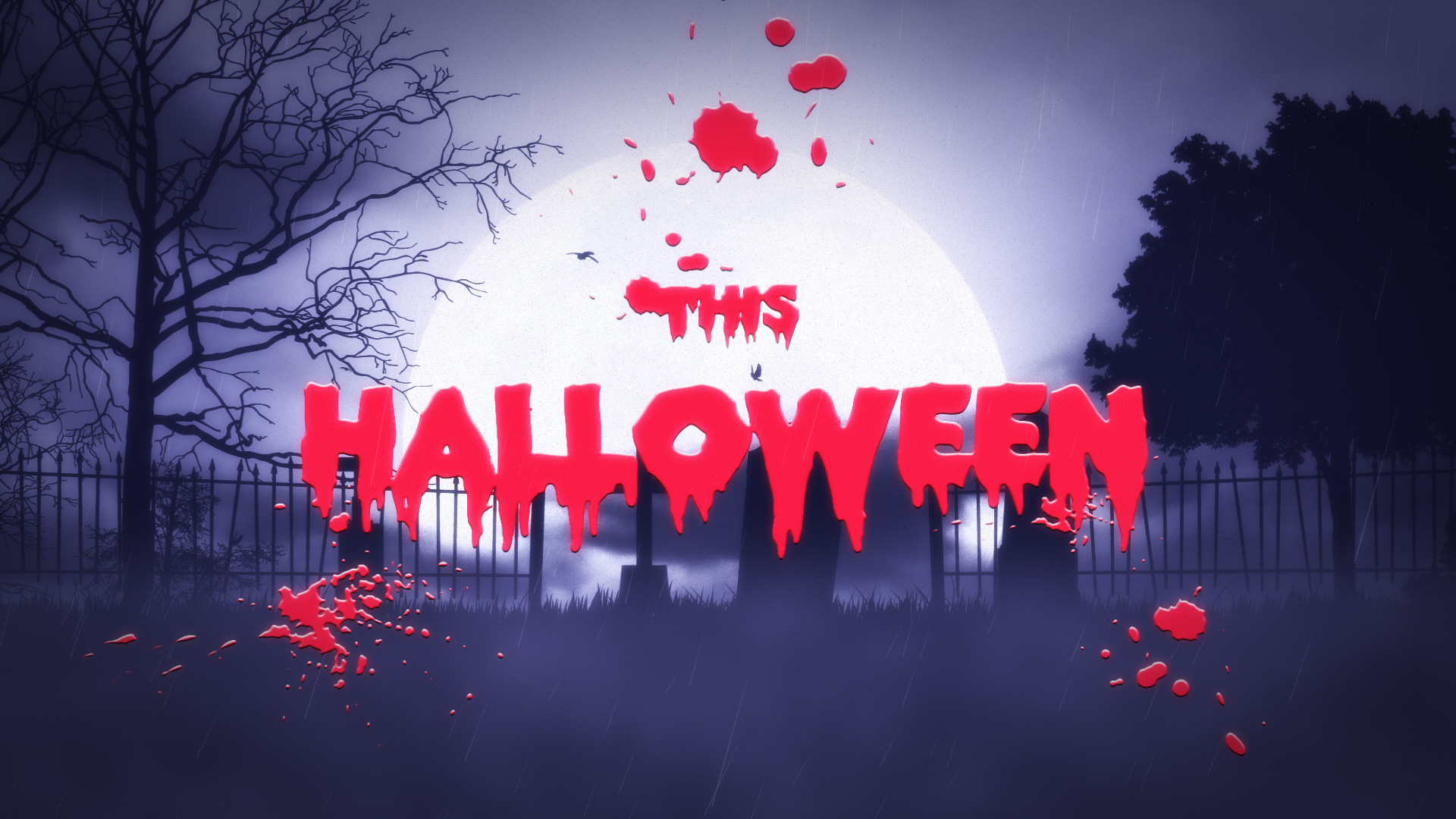tombstone logo reveal halloween after effects template
